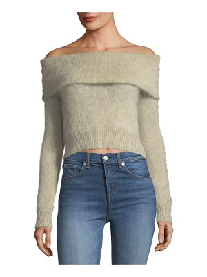 RAG & BONE Mimi Off-The-Shoulder Cropped Mohair Sweater