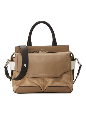 RAG & BONE Pilot Suede & Leather Satchel Bag