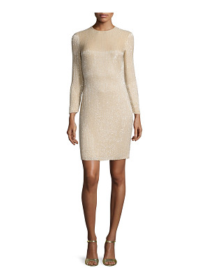 Ralph Lauren Collection Long-Sleeve Embellished Cocktail Dress
