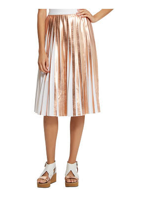 RAOUL Foil Pleated Skirt
