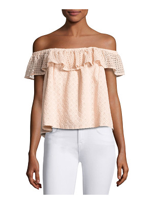 REBECCA MINKOFF Celestine Off-The-Shoulder Lace Top