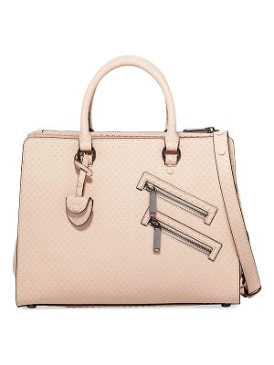 REBECCA MINKOFF Jamie Large Snake-Embossed Satchel Bag