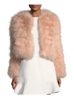 REBECCA MINKOFF Pacha Long-Sleeve Short Feathered Jacket