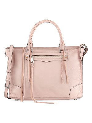 REBECCA MINKOFF Regan Pebbled Leather Satchel Bag