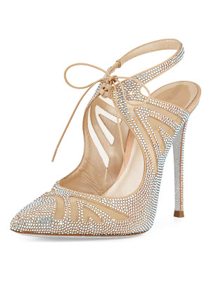 RENE CAOVILLA Crystal-Embellished Tie-Front 115mm Pump