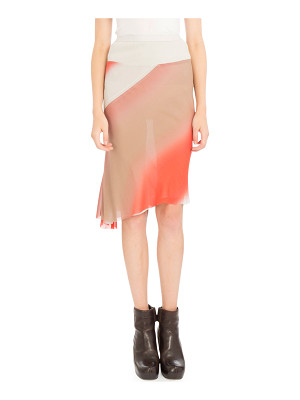RICK OWENS Degrade-Print Midi Skirt