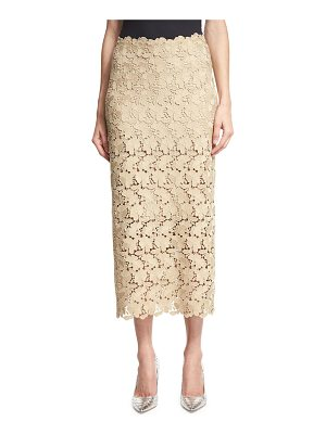 Robert Rodriguez Lace Midi Pencil Skirt