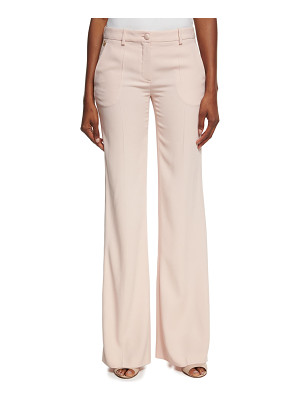 Roberto Cavalli Satin-Stripe Wide-Leg Pants