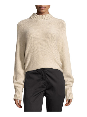 ROSETTA GETTY Cropped Mock-Neck Oversized Sweater