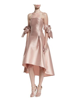 Sachin & Babi Vani Strapless Bow-Sleeve Fit-and-Flare Cocktail Dress