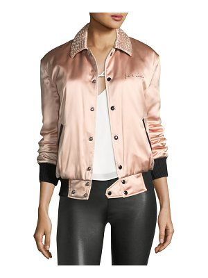 SAINT LAURENT Je T'Aime Satin Teddy Jacket