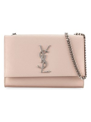 SAINT LAURENT Kate Monogram Grain Leather Small Chain Shoulder Bag