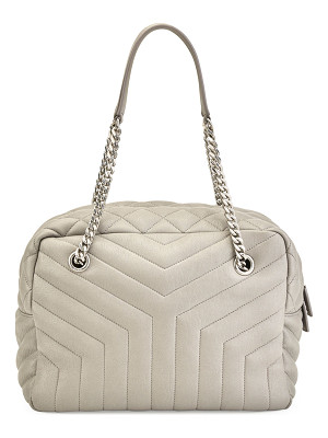 SAINT LAURENT Loulou Monogram Y-Quilted Medium Bowling Bag
