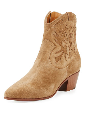 SAINT LAURENT Rock Embroidered Western Bootie