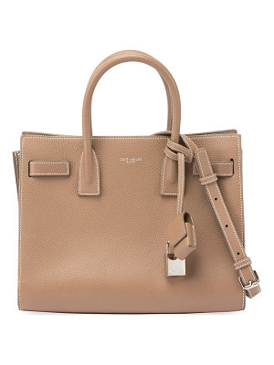 SAINT LAURENT Sac De Jour Baby Grain Leather Tote Bag