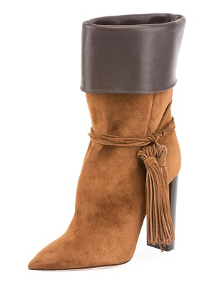 SAINT LAURENT Tanger Mixed Leather Tassel Boot