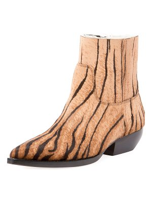 Saint Laurent Theo Eli Calf Hair Ankle Boots