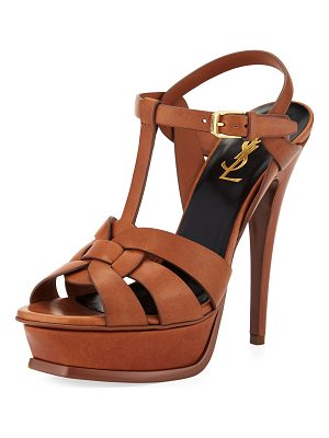 SAINT LAURENT Tribute Leather 105mm Platform Sandal