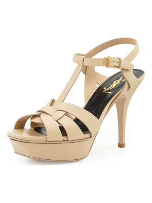 SAINT LAURENT Tribute Leather 75mm Sandal