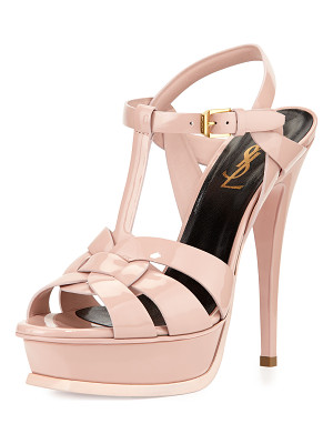 SAINT LAURENT Tribute Patent Platform Sandal