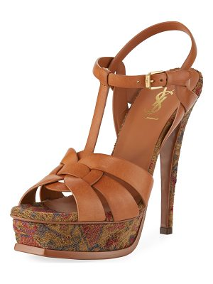 SAINT LAURENT Tribute Tapestry 135mm Platform Sandal