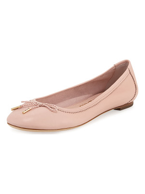 SALVATORE FERRAGAMO Enea Leather Ballerina Flat