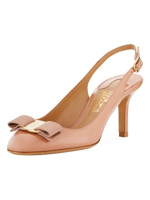 Salvatore Ferragamo Ortigia Slingback Pump with Signature Vara Bow