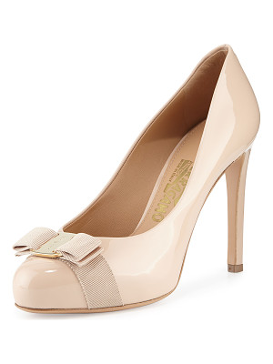 SALVATORE FERRAGAMO Patent Bow Pump