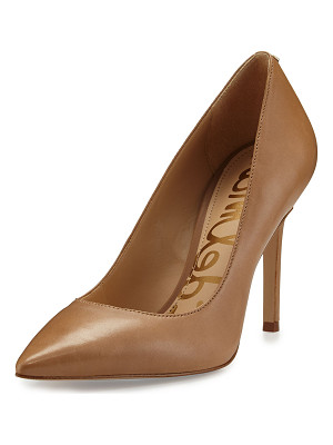 SAM EDELMAN Hazel Pointed-Toe Leather Pump