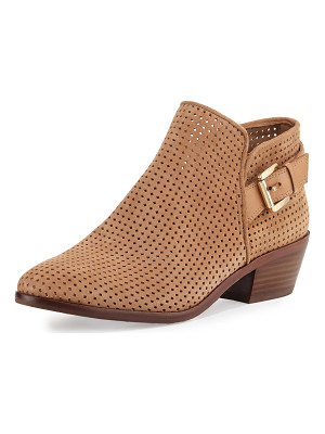 SAM EDELMAN Paula Perforated Suede Bootie