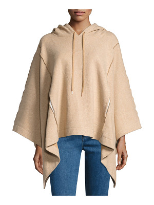 SEE BY CHLOE Hooded Rib-Knit Poncho