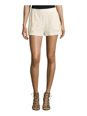 See By Chloe Mid-Rise Lace Shorts