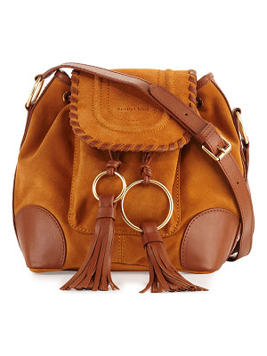 SEE BY CHLOE Polly Suede Flap Bucket Bag