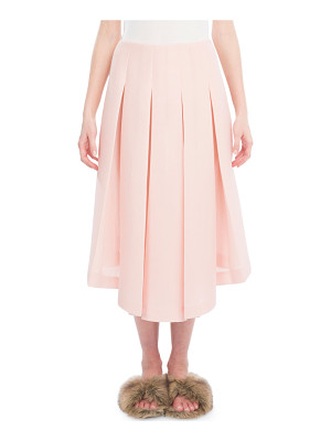 Simone Rocha Box-Pleated Midi Skirt