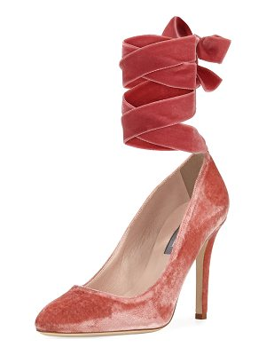 SJP BY SARAH JESSICA PARKER Ania Velvet Pump With Removable Self-Tie Ribbon