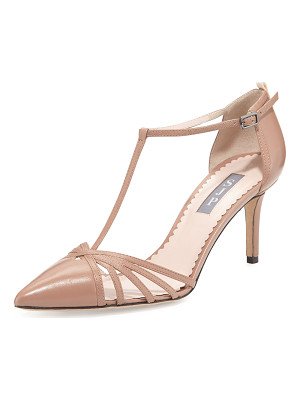 SJP BY SARAH JESSICA PARKER Carrie Leather T-Strap 70mm Pump