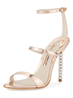 Sophia Webster Rosalind Crystal-Heel Leather Sandals