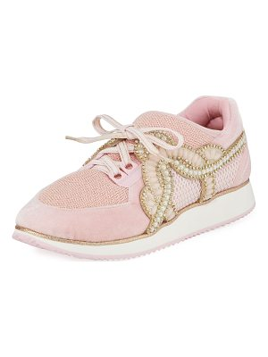 SOPHIA WEBSTER Royalty Embellished Lace-Up Trainer Sneaker