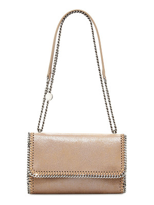 Stella McCartney Falabella Shiny Chain-Trim Crossbody Bag