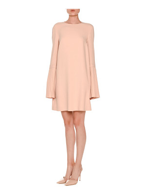 Stella McCartney Pleated Bell-Sleeve Swing Dress