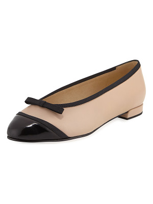 STUART WEITZMAN Capture Napa Leather Ballerina Flat