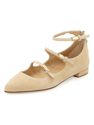 Stuart Weitzman Flippy Three-Strap Mary Jane Flat