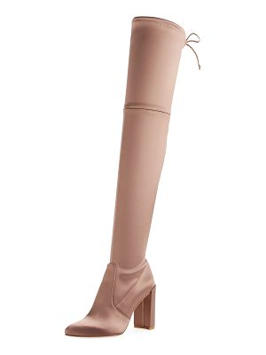STUART WEITZMAN Highchamp Satin Over-The-Knee Boot