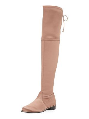 STUART WEITZMAN Lowland Satin Over-The-Knee Boot