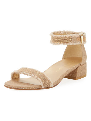 STUART WEITZMAN Nudistchains Canvas Ankle-Wrap Sandal