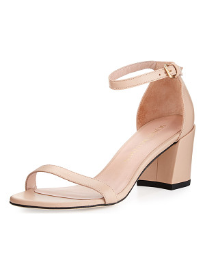 STUART WEITZMAN Simple Napa Chunky-Heel City Sandal