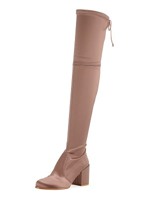 STUART WEITZMAN Tieland Satin Over-The-Knee Boot