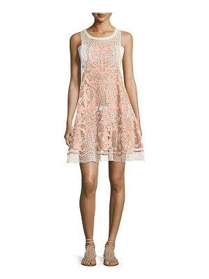 SUBOO Nostalgia Embroidered Mesh Dress