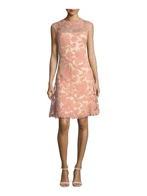 TADASHI SHOJI Sleeveless Embroidered Cocktail Dress