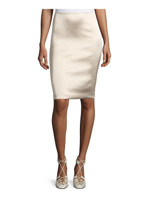 The Row Brenner Satin Pencil Skirt